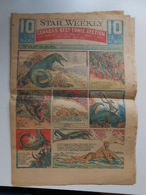 Newspaper comic strips full section Star Weekly October 1947