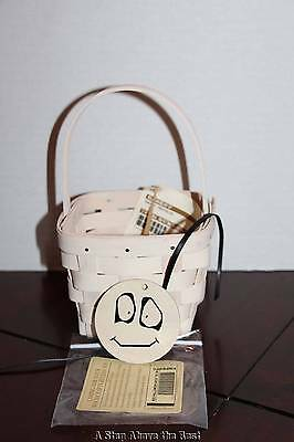 Longaberger Halloween Ghost Ghoulie Basket With Tie On #63429 NEW