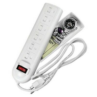 Fake Surge Protector Hidden Compartment Secret Stash Diversion Safe w/ LED