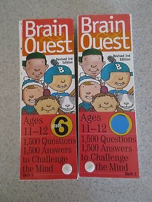Brain Quest 6th Grade Ages 11-12 Deck One & Deck Two