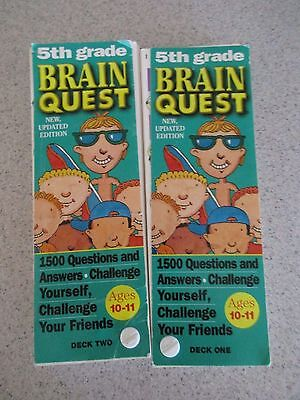 Brain Quest 5th Grade Ages 10-11 Deck One & Deck Two