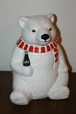 "Neat Vintage ""Always Cool"" 1994 Collectible Coca-Cola Bear Cookie Jar!"