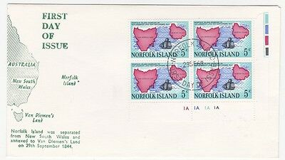 Norfolk Island 1969 Corner Block First Day Cover FDC