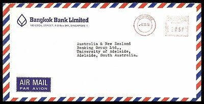 October 5, 1978 Singapore Bank Limited Metered Nice Cover To Australia