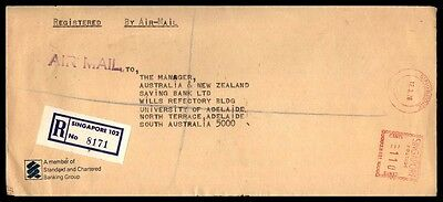 March 12, 1976 Singapore Registered Airmail Nice Cover To Australia Metered