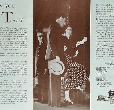 Union Pacific Railroad 1930's Travel By Train to the West-UP