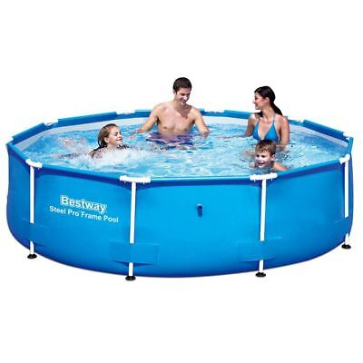 New Bestway Steel Pro Round Swimming Pool 305 x 76 cm Steel Frame Blue with Mesh
