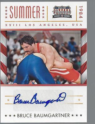 2012 Panini Americana Heros and Legends Olympic Bruce Baumgartner Autograph Card