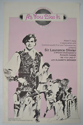 As You Like It 1936 William Shakespeare Pressbook Press Book Poster Ad Slick