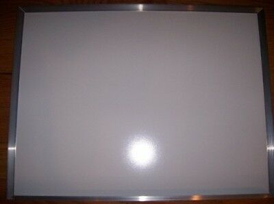 "White Dry Easer Board 12"" X 18"" Writing Aluminum Frame Tray Wall Mount Bullet"