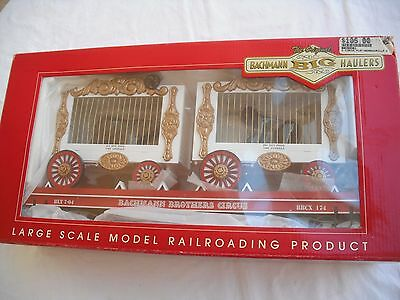 Bachmann 98381 Flat Car, with Bear and Gorilla Wagons,Circus BBCX, Large G Scale