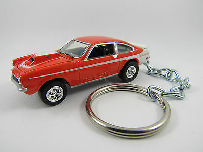 1971 1972 CHEVROLET Chevy VEGA Coupe Orange Key FOB Keyring Keychain