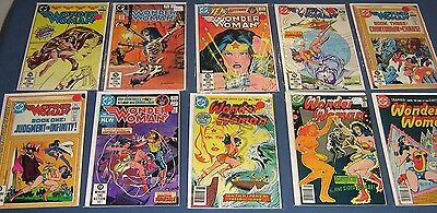 10 Issues Of Wonder Woman #231, 243, 270, 289, 291, 293, 295, 297, 298, 303 VF