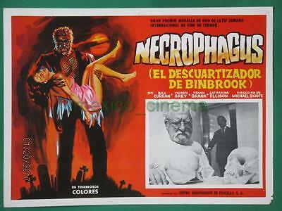 THE BUTCHER OF BIMBROOK Horror MONSTER NECROPHAGUS CEMETERY MEXICAN LOBBY CARD