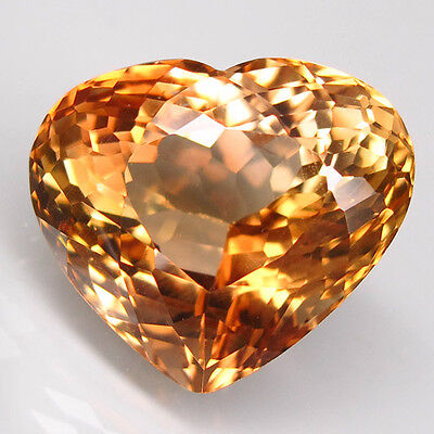 21.18ct.SPARKLING GEM! 100%NATURAL TOP IMPERIAL TOPAZ UNHEATED (HEART) AAA