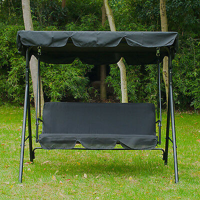 Outsunny 3 Seater Swing Chair Outdoor Garden Hammock Swinging Bench Seat Canopy