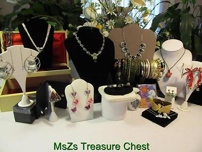 Lot J1 Jewelry Box with 42 pcs of all types of jewelry, vase, pic holder + MORE!