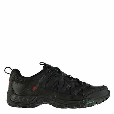443892aa1a3 Karrimor Mens Summit Leather Walking Shoes Trainers Lace Up Padded Ankle  Collar