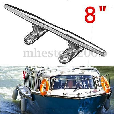 8''Heavy Duty Base Boat Dock Deck Line Rope Cleat Marine Bollard Yacht Stainless