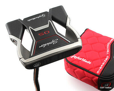 "Taylormade Spider Os Milled Insert Mallet Putter Steel 35"" + Cover - #d3243"