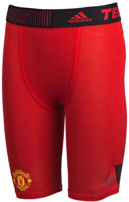 Adidas 2015 Tech-Fit Cool Manchester United Compression Mens Short Tight - Red