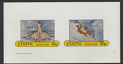 GB Locals - Staffa (1170) 1982 VENUS on SHELL imperf sheetlet  unmounted mint