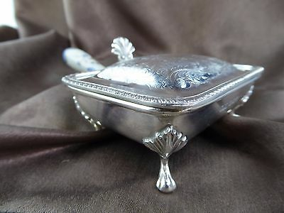 Solid sterling silver hallmarked  cigarette box with porcelain handle