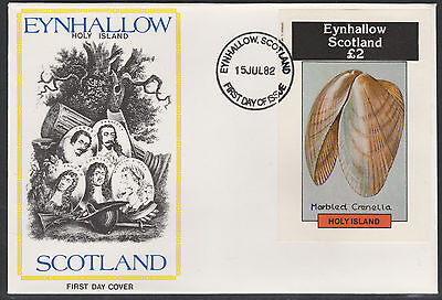 GB Locals - Eynhallow (1175) 1982 SHELLS deluxe sheet on first day cover
