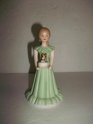 Vintage Enesco 11th Birthday Growing Up Girls Blonde Figurine Figure Final Sale