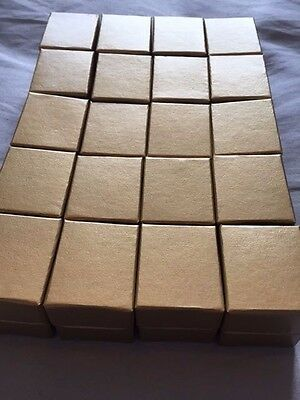 Wholesale Joblot 20 Antique Gold Ring Boxes, Jewellery Boxes, Packaging,