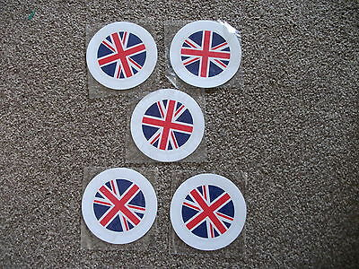 Union Jack 5 x new tax disc holder free Postage