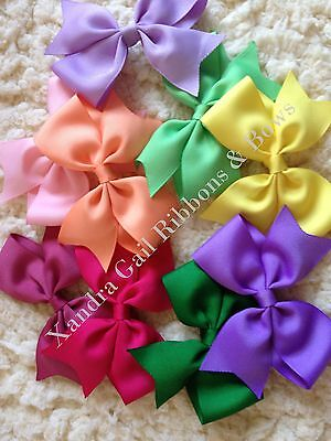 """Lot 10 - Large 5"""" Girls Toddler Baby  Boutique Hair Bows on Alligator clips"""