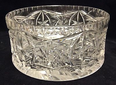 "Glass Serving Bowl by Violetta 24% Lead Cut Crystal (Poland) 7.5"" D x 3.5"" H"