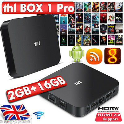 2+32GB S912 Octa Core TV BOX Android 6.0 WIFI 4K Fully Loaded Smart Meida Player