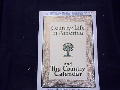 1906 January Country Life In America Magazine - Great Cover & Ads - St 1388