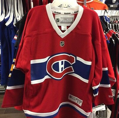 newest collection f773d 30332 MONTREAL CANADIENS AGE 4-7 Child NHL Hockey Jersey Home Blue Red Reebok New