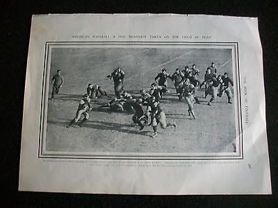 "AMERICAN FOOTBALL MATCH Field of Play 1905 Approx 12""x 9"" ORIGINAL PRINT"