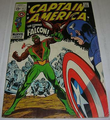 CAPTAIN AMERICA #117 (Marvel Comics 1969) Origin & 1st appearance FALCON (VG) RL