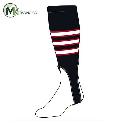 "TCK® Large, 300D, 7"" - Black–Scarlet Red–White - MLB® Baseball Stirrups"