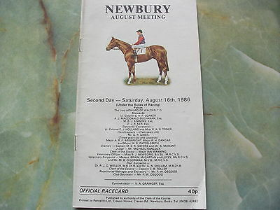 Newbury Race Card, August 16Th 1986 -  The Geoffrey Freer Stakes - Bakharhoff