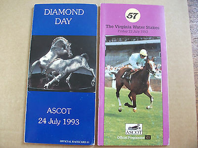 Ascot Race Cards July,1993 -  The King George Vi & Qe Stakes + Grand Lodge Debut