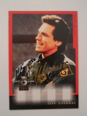 Babylon 5 TV show Jeff Conway autograph insert card 1997