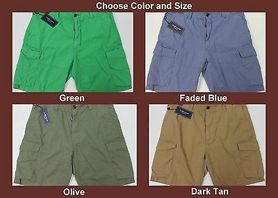 46b89ef947 NWT $75 Polo Ralph Lauren Drill Khaki CARGO Shorts Relaxed Fit Mens Cotton  NEW