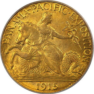 1915-S $2.5 Panama-Pacific Exposition PCGS MS63