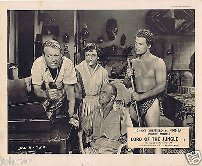 LORD OF THE JUNGLE Johnny Sheffield as BOMBA FOH Lobby card 5