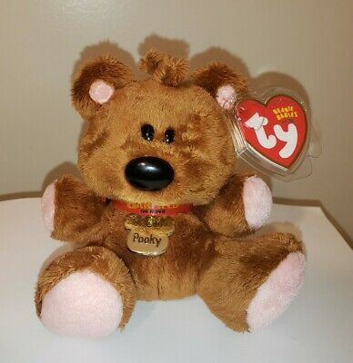 "Ty Beanie Baby ~ POOKY the 5"" (Garfield) Teddy Bear ~ MINT with MINT TAGS ~ RARE"