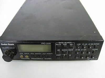 RADIO SHACK PRO-2026 Scanner - For Parts or Repair - $39 99