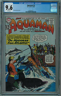 Aquaman #3 Cgc 9.6 5Th Best Cgc Copy White Pages 1962