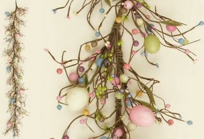 Spring Pip Berry and Easter Egg Garland 5.5 ft in hdea 5f4997 NEW