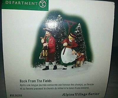 Department 56 Alpine Village Series, Back From The Fields